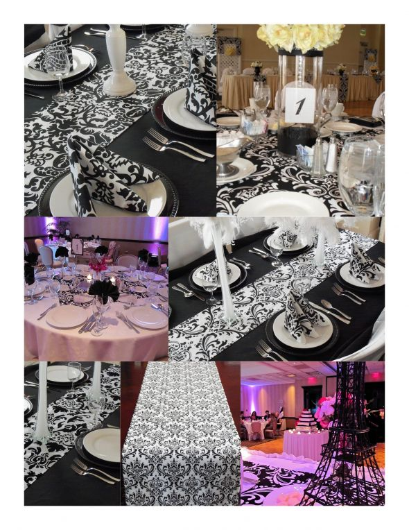 Damask. & Red White and Black Table Settings | OMG!!! It\u0027s a Wedding!