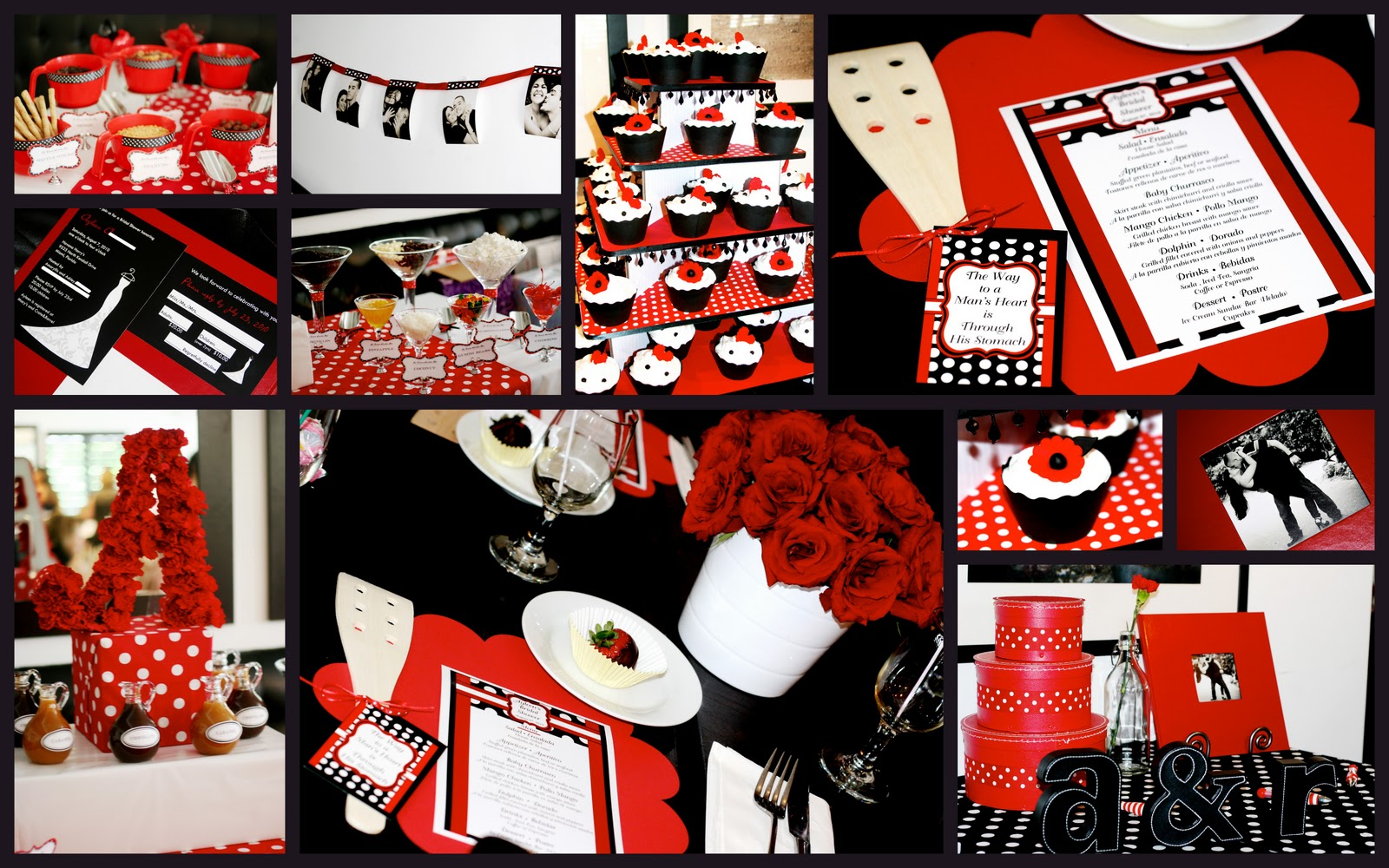 Red White And Black Table Settings Omg It S A Wedding